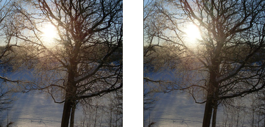 Holmes Stereogram, vinterbild mot Norrsjön